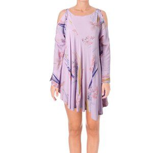 NWT Free People Clear Skies Cold Shoulder Purple